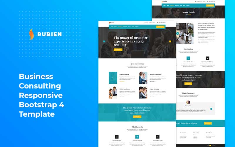 Business Consultant Website Template Theimran Com
