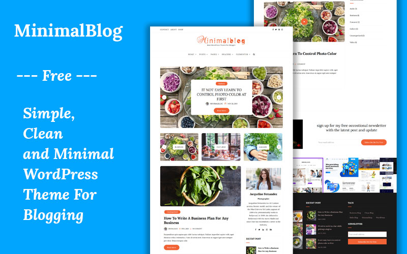 Minimal Blog Free WordPress Theme
